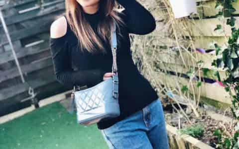 香奈儿(Chanel)18新款羊皮渐变雾霾蓝GABRIELLE流浪包