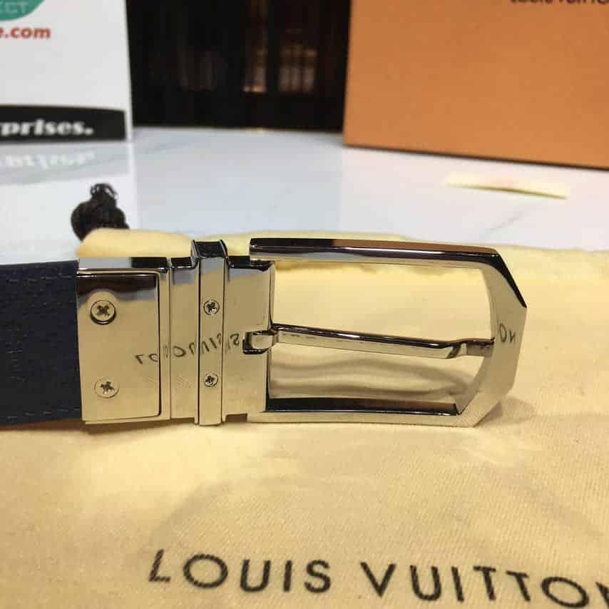 〖LOUIS VUITTON〗金属皮带圈上刻有LV 标志   3.5厘米宽