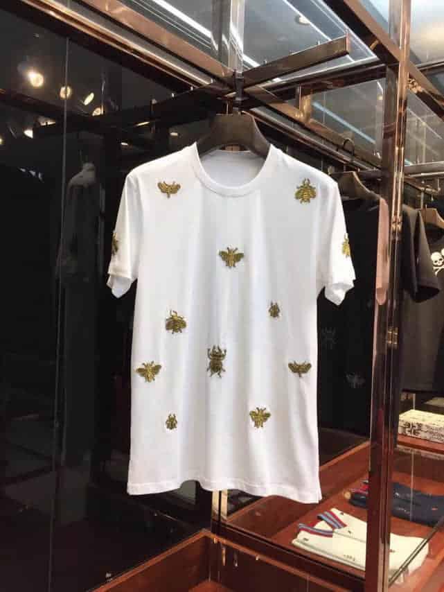 Dolce&Gabbana杜嘉班纳 D&G 2018最新蜜蜂蝴蝶重工刺绣工艺短袖T恤
