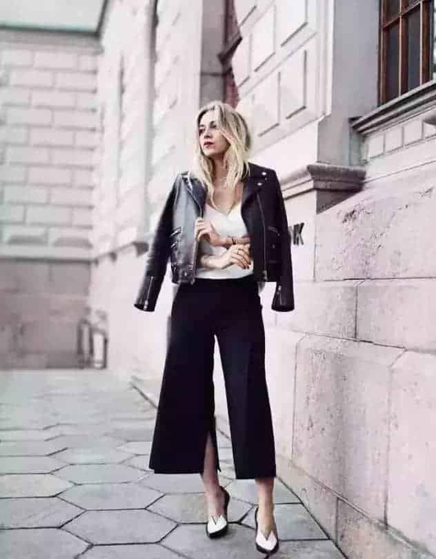 开叉裤时髦又有设计感,春天来一条再合适不过!