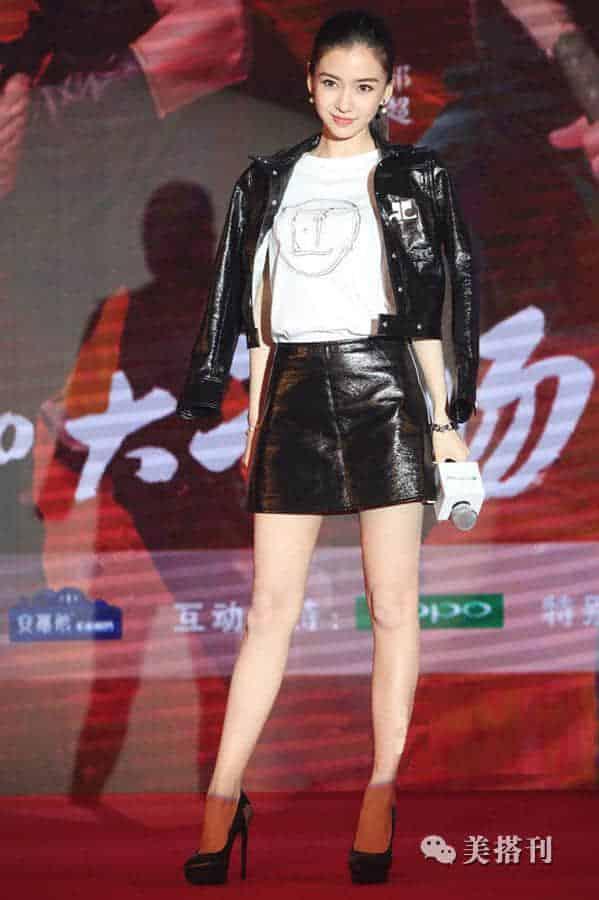 身穿皮衣的刘诗诗,简直是攻气十足!