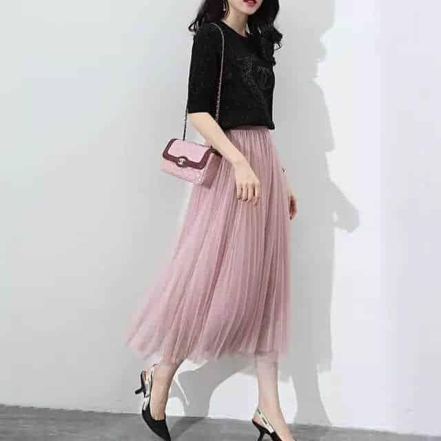 春季半身高腰裙,展现摇摆姿态!