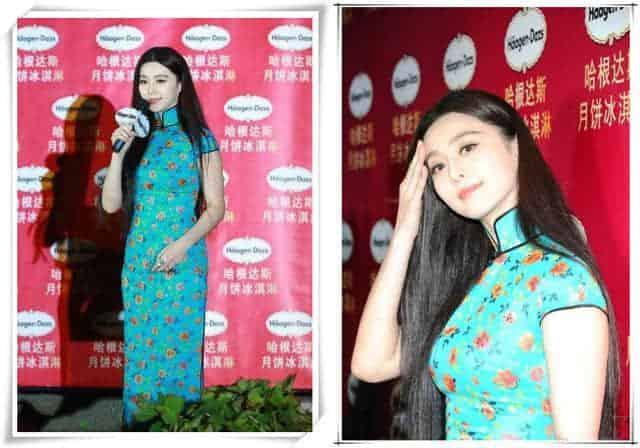 范冰冰穿的旗袍算什么,刘涛这袭天蓝色开叉旗袍才叫一个惊艳!