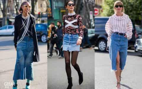 世上不只有牛仔裤,春季必备百搭单品还有牛仔裙!