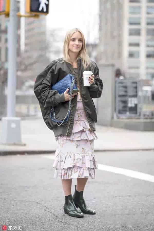 街拍 | 没有印花裙的春天是不完整的!