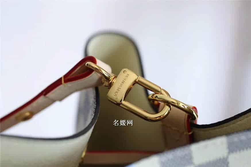 Louis Vuitton路易威登LV挂锁丝印图案 白格NeoNoe水桶包N41066