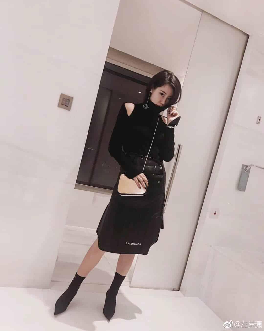 巴黎世家Balenciaga后视镜子包  2018走秀图 街拍上身图 时尚博主小白同款