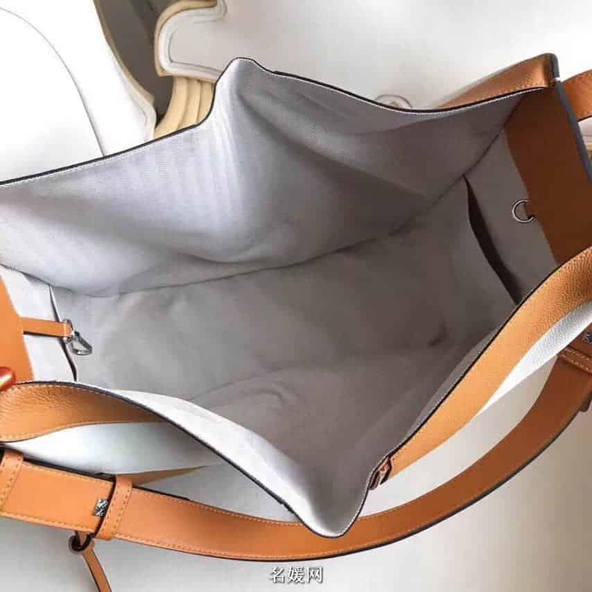 LOEWE罗意威 2018新款Hammock系列荔枝皮拼色手提包吊床包