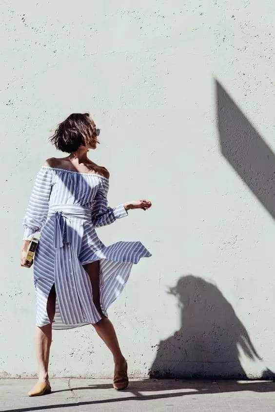 为什么今夏,明星都穿衬衫裙?