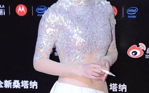 范冰冰真变美了,张馨予穿透视裙都比不了!