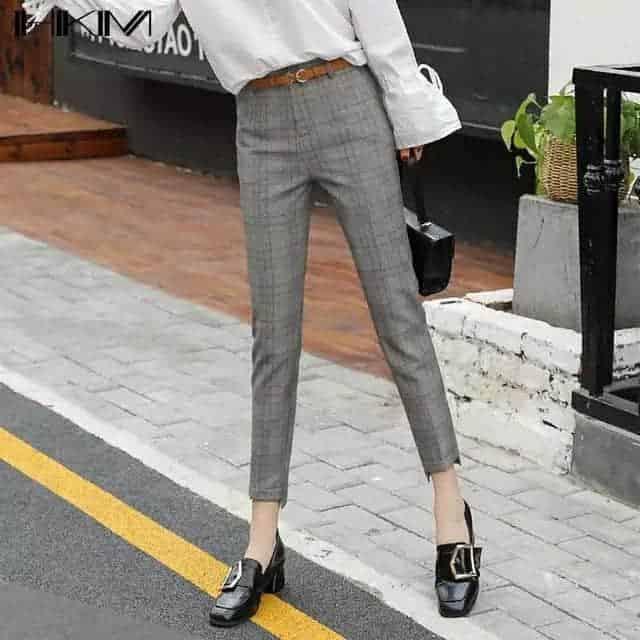 格子裤,让你变得知性与雅致