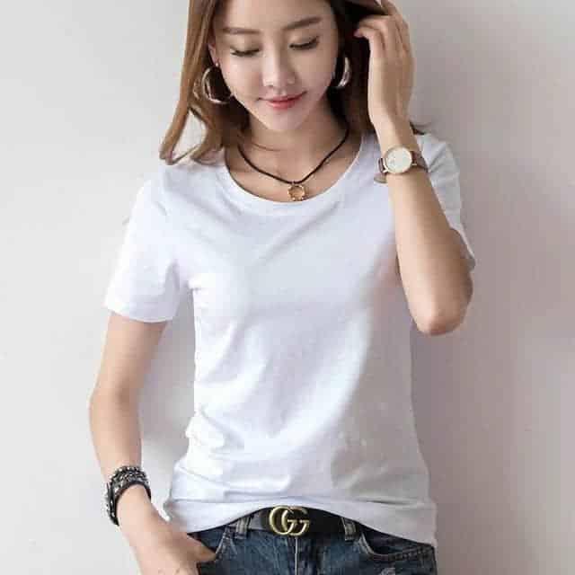 白T恤,女人穿衣搭配里的白色小精灵!