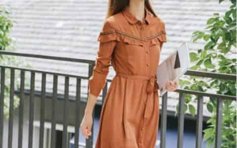 现在特流行文艺范的休闲裙子,棉立方修身收腰连衣裙温婉大方淑女