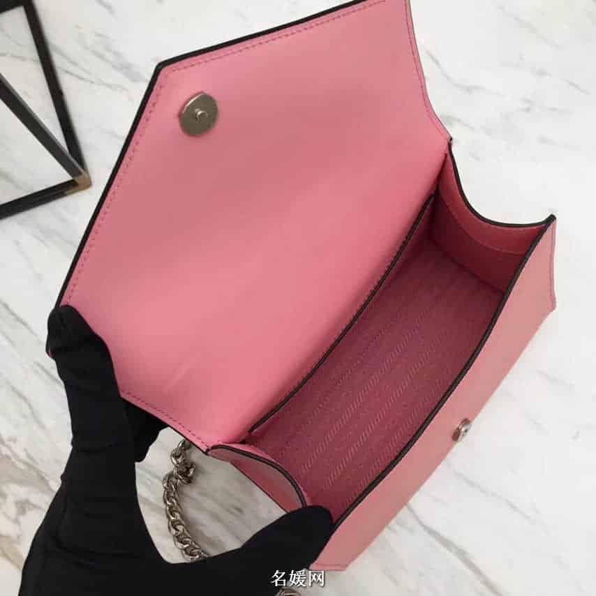PRADA/普拉达 18新款 Monochrome 手袋信封单肩斜挎包 1BD127