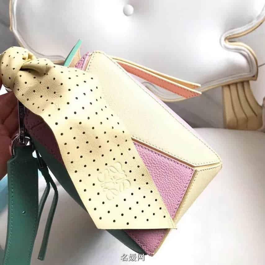 LOEWE罗意威 18新款 Puzzle 彩色糖果最新特别版几何包