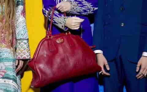 Gucci/古奇 2018新款 RE(BELLE)中号手提购物袋 516459