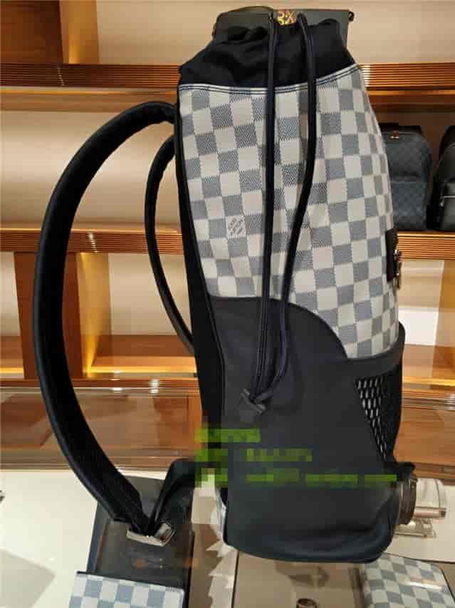 lv/路易威登 18新款棋盘格抽绳口Matchpoint双肩包N40009 N40018