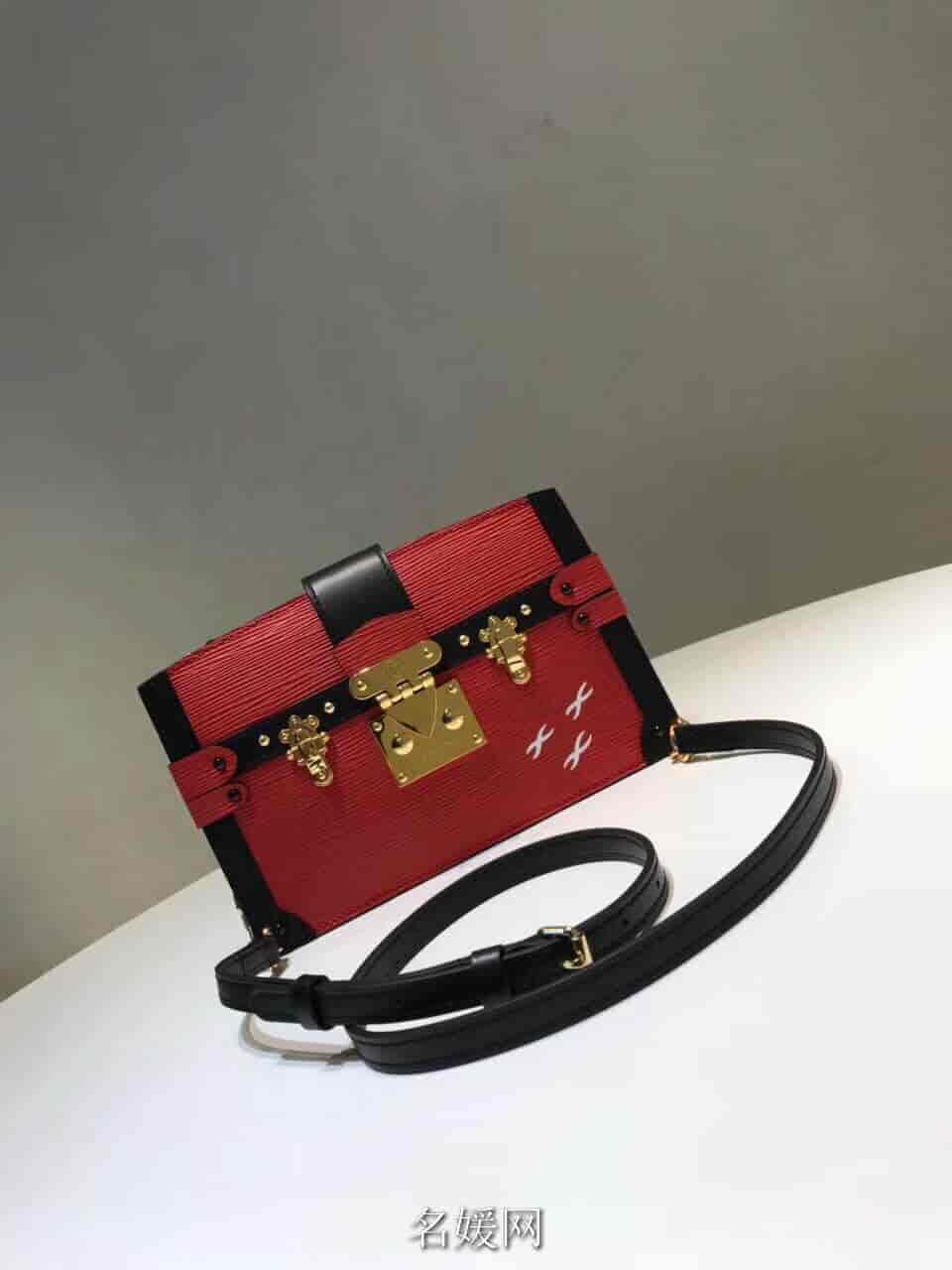 LV/路易威登 新款 TRUNK 拼色软盒子链条包单肩斜跨包女包 M51697