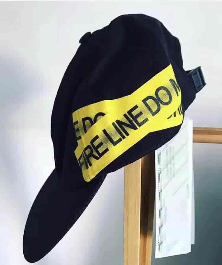 OFF-WHITE C/O VIRGIL ABLOH OW 黄色警戒线帽子 鸭舌帽