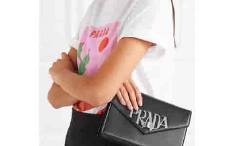 Prada/普拉达 18ss  大logo五金装饰 女士链条包 1BD097