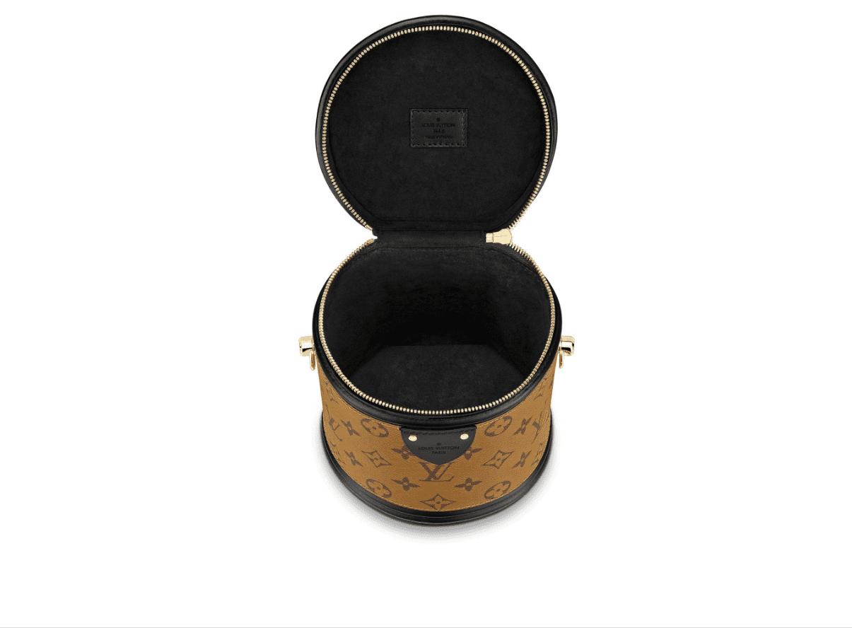 LV/路易威登 秀款Vanity圆桶包 老花拼色手提水桶包 M43986