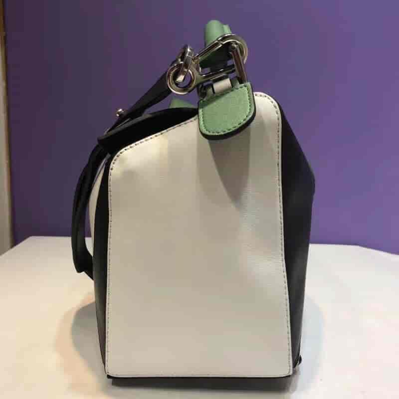 LOEWE/罗意威 Puzzle Bag Forest Green/White/Black