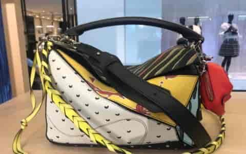 罗意威/Loewe夏日限时paula系列patchwork Bag