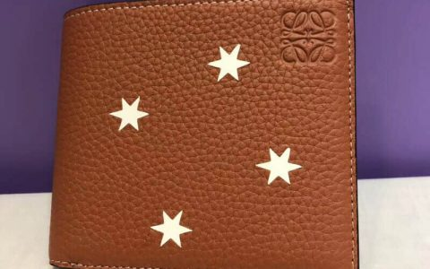 LOEWE/罗意威 18年新款星星图案男士对折钱包/短夹