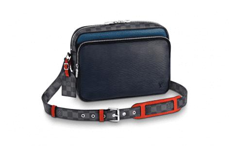 LV路易威登 18新款Epi皮革Nil Slim手袋/邮差包 M51466