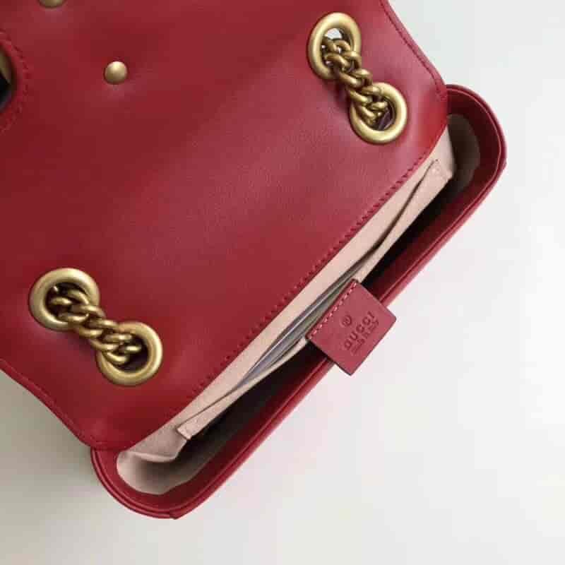 Gucci/古奇 GG Marmont系列绗缝斜挎包 446744 小号22CM