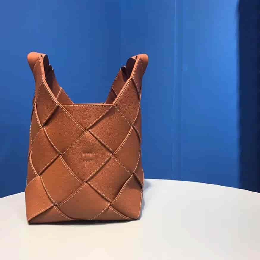 Loewe Woven Basket Gingham Bag 新款编织包