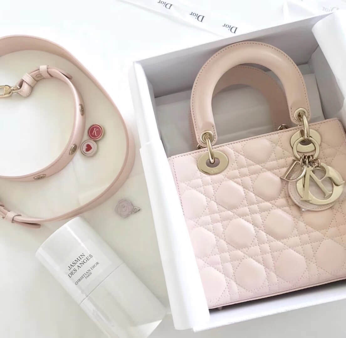 迪奥 18新款 My Lady Dior徽章系列4格戴妃包