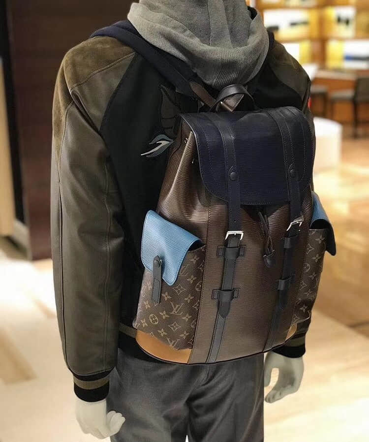 LV/路易威登18年新款Epi拼色皮革Christopher双肩背包 M51457