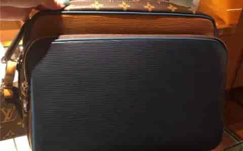 LV路易威登 18新款 NIL SLIM 老花拼色邮差包 斜挎男包M51465
