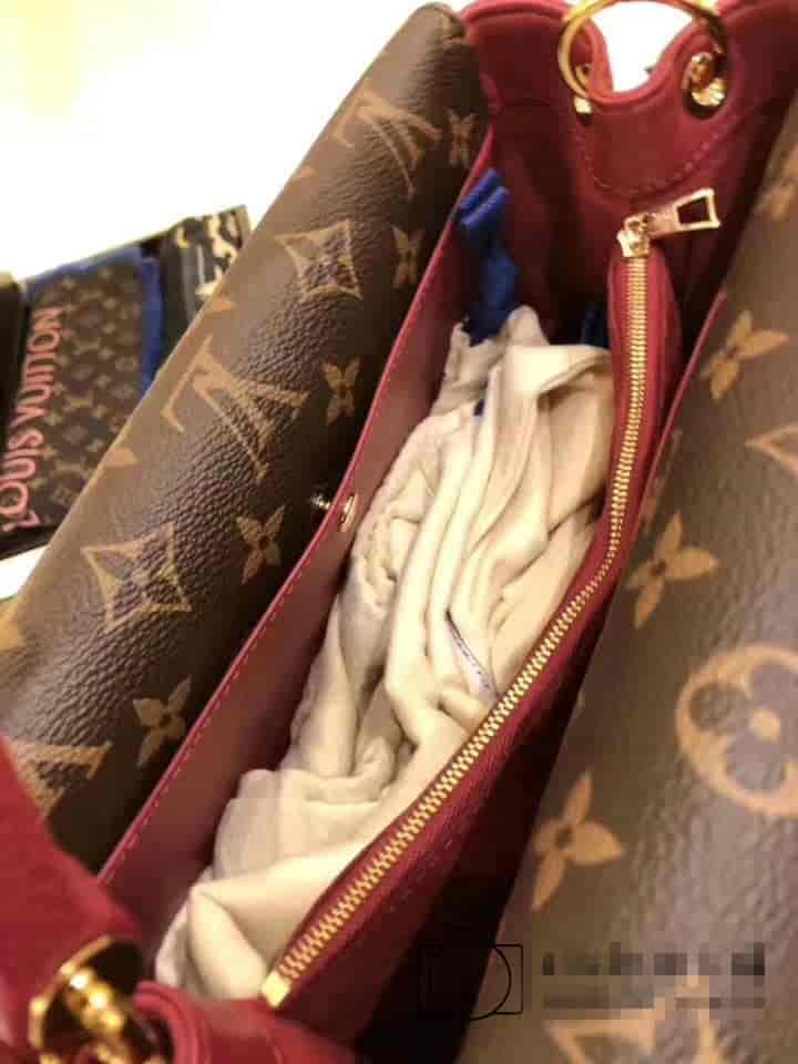 LV路易威登DOUBLE V 手袋 翻盖式拼色老花单肩手提包 M51766