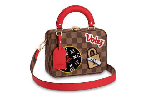 LV/路易威登 STORIES BOX 徽章亮片刺绣盒子包 手提单肩包 N40048