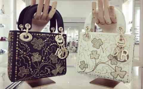 Dior/迪奥 Mini Lady 限量版• 金丝四叶草包包