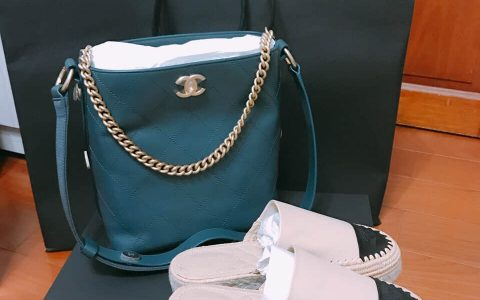 Chanel 流浪包 / 小款墨綠色嬉皮包