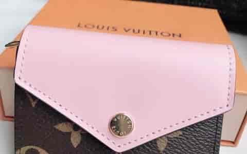 Louis Vuitton粉色老花小钱包,性价比超高
