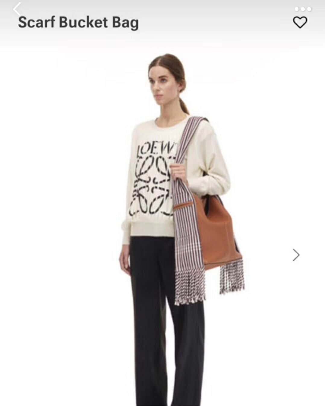 Loewe Scarf Bucket Bag 天后王菲同款斜挎肩包/围巾流浪包