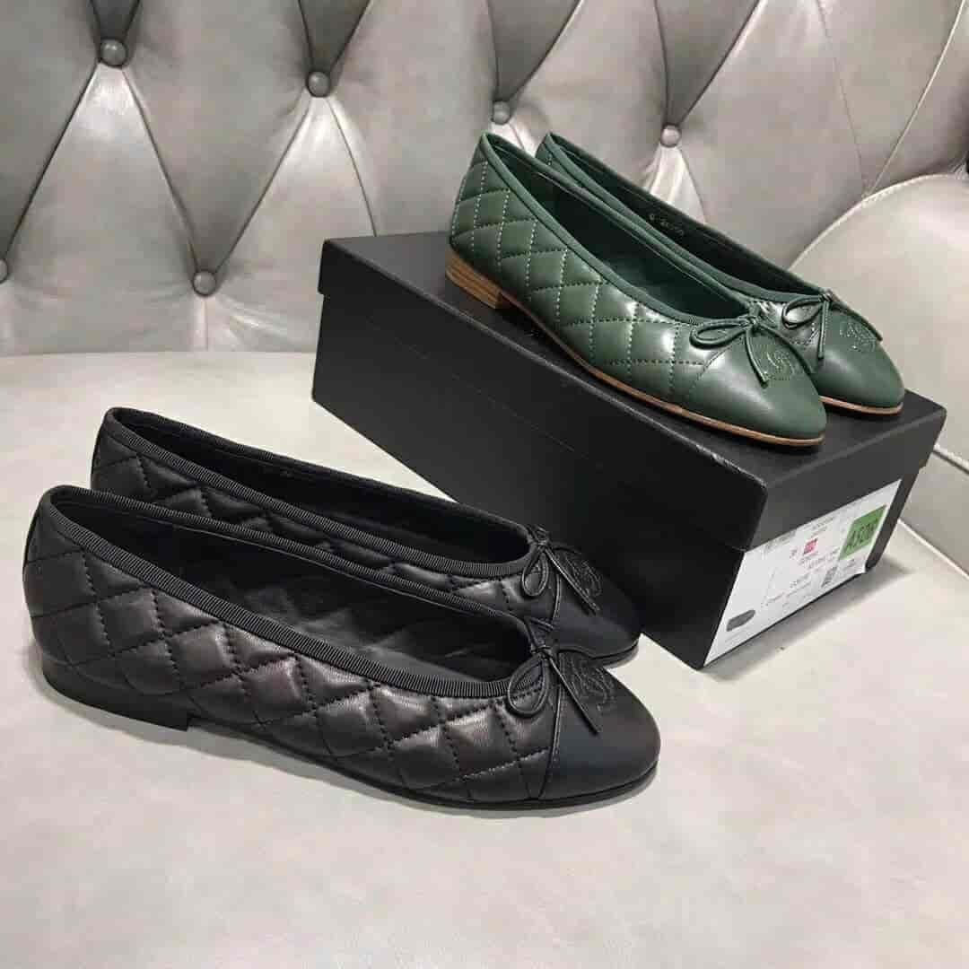香奈儿Chanel 18年新款 全粒面绵羊皮经典芭蕾舞鞋