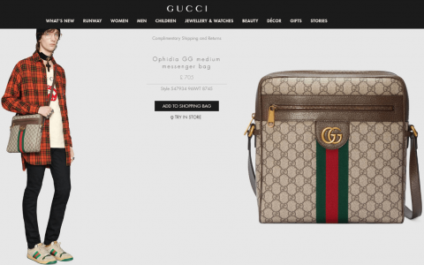 Gucci/古驰Ophidia GG medium messenger邮差包 547934