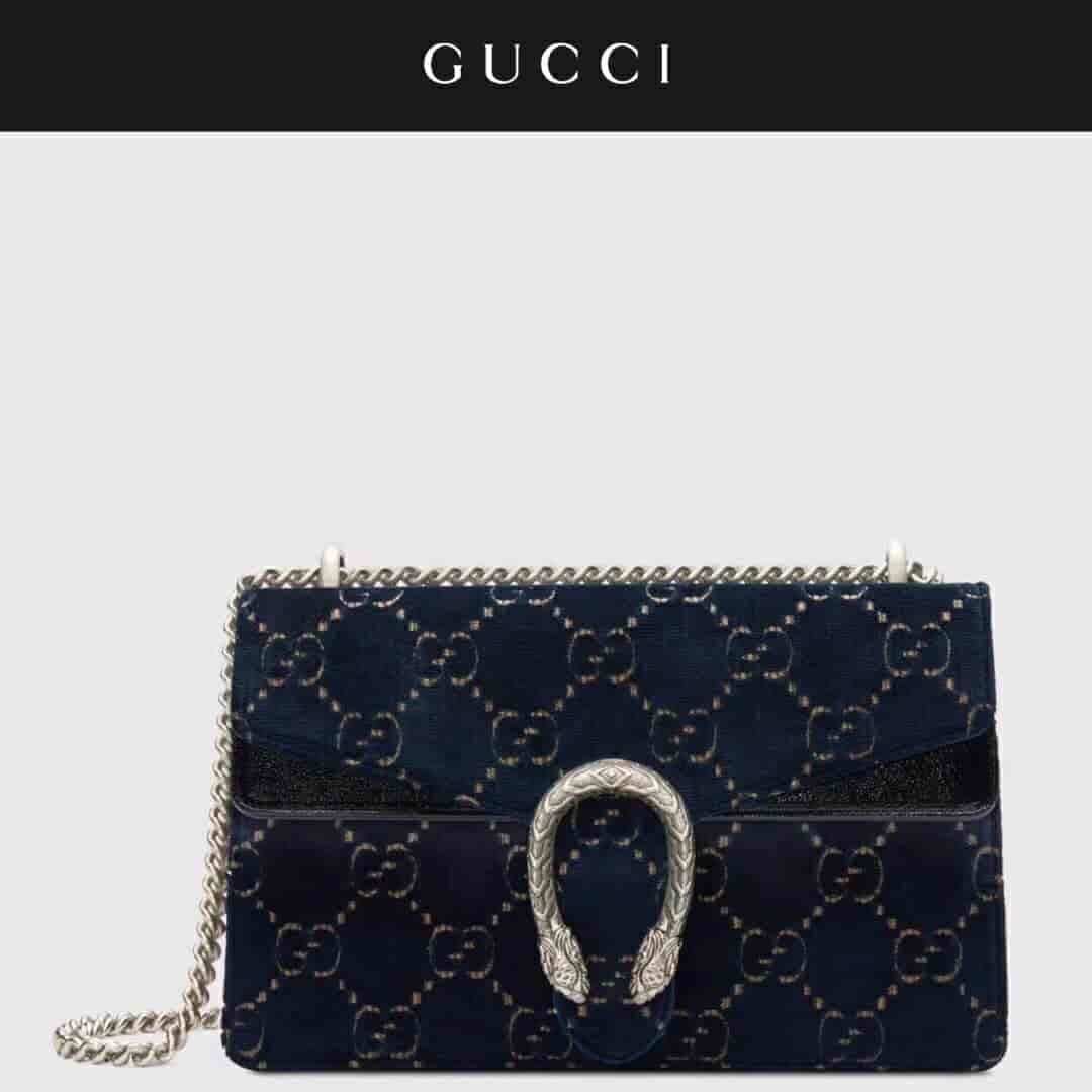 Gucci/古奇 Dionysus系列GG天鹅绒中号肩背包 400249