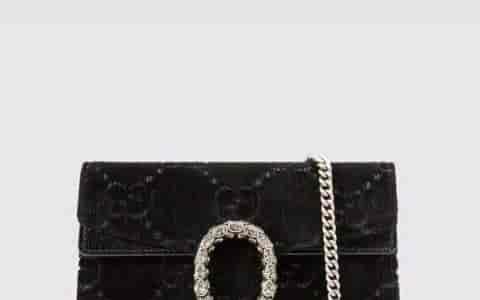 Gucci/古奇 Dionysus系列GG天鹅绒超迷你链条包 476432