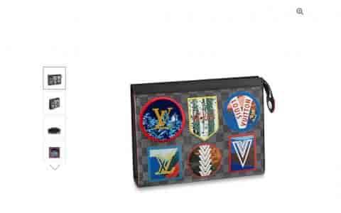 路易威登LV 阿尔卑斯徽章贴饰Voyage洗漱包/手拿包N60134