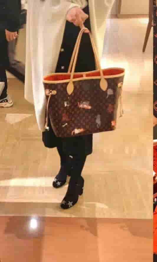 LV/路易威登 19新款 NEVERFULL 猫咪子母袋 购物袋 女包 M44441