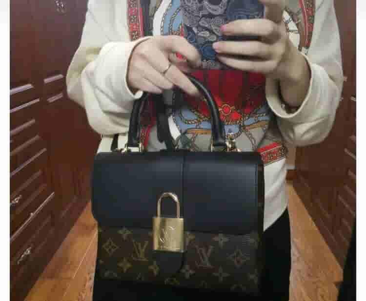 路易威登/LV M44141 LOCKY BB 手袋 挂锁锁头手提包
