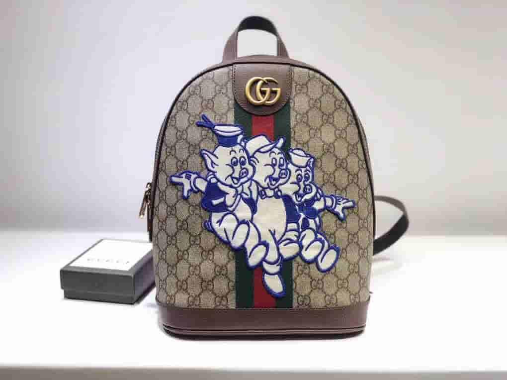 Gucci/古奇 Ophidia系列三只小猪图案GG背包 552884