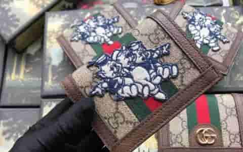 Gucci/古奇 Ophidia三只小猪图案小卡包 523155