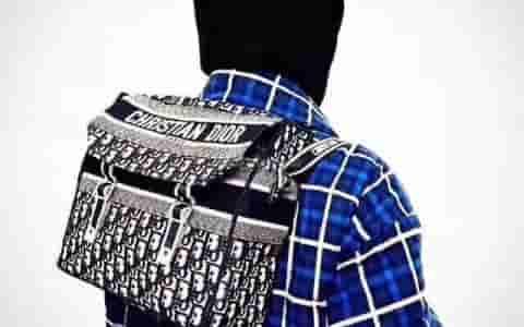 Dior/迪奥 Oblique Canvas Messenger Bag 邮差包